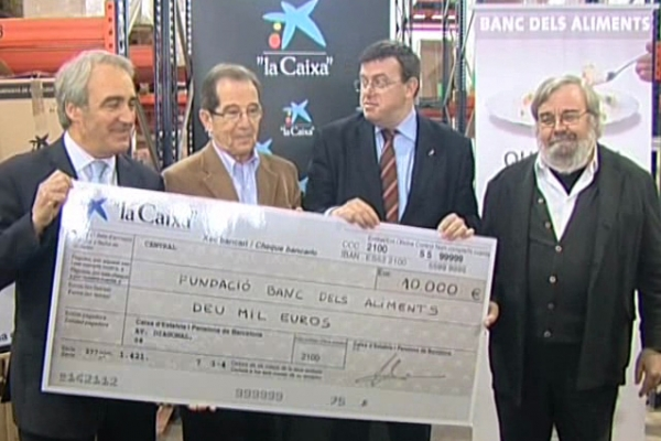 The trade of Barcelona made a donation of 10,000 euros to the Food Bank.