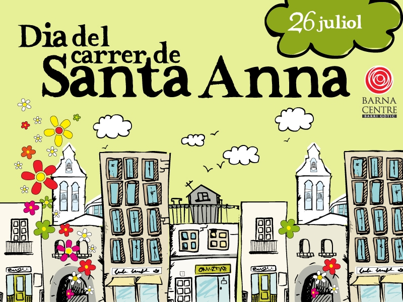 26 july: popular celebration at C/ Santa Anna