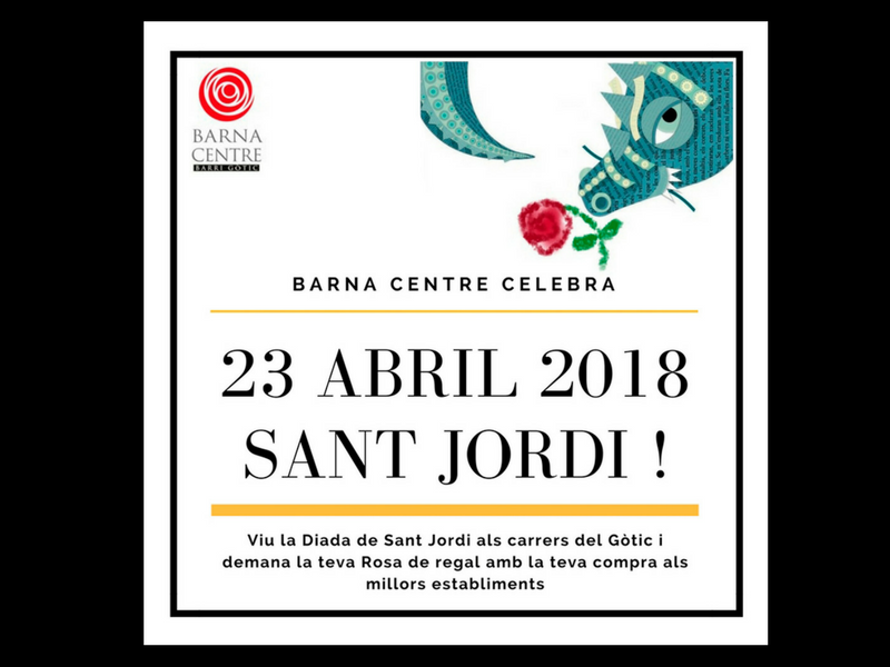 The most vibrant St Jordi can be lived in Old Town
