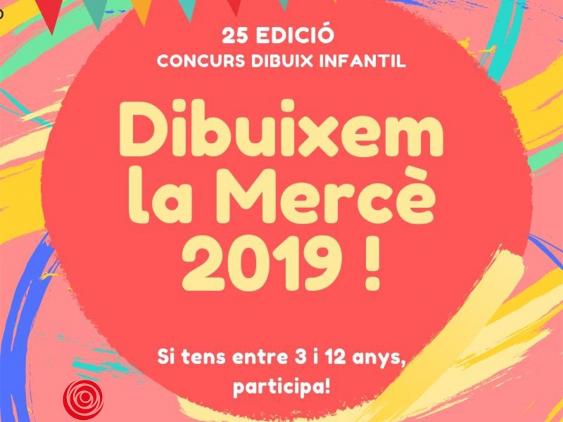 Prepare the colored pencils! The 25th edition of the children's contest Dibuixem la Mercè is comming