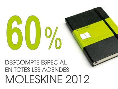 60% Discount in All Diary Moleskine 2012