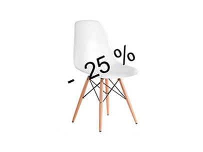 20% Off Cadira réplica Eames color blanca